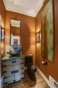 Ralph Lauren Inspired Powder Room